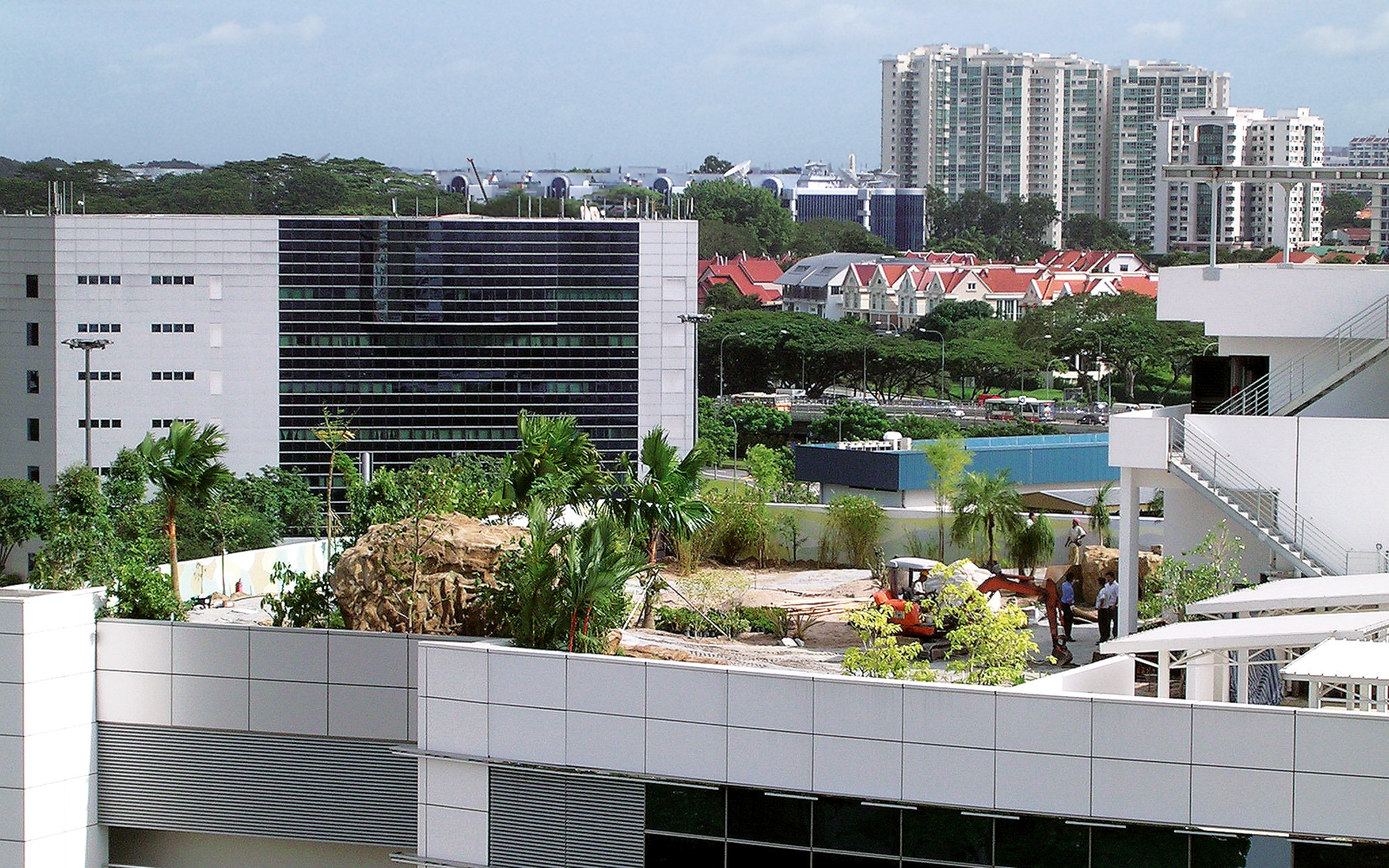 A green roof is built