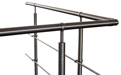 Railing made of stainless steel