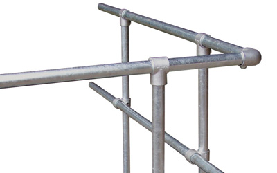 Railing made of galvanized steel