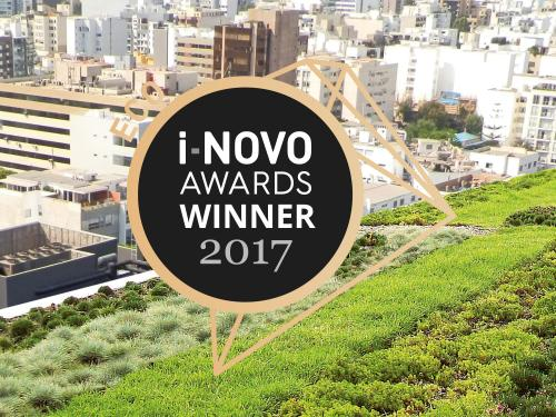 Green roof with i-NOVO Awards 2017 logo