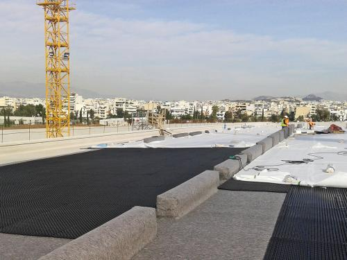 Protectodrain® PD 250 and Filter Sheet TG during green roof installation