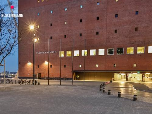 Access to the underground garage of the Elbphilharmonie