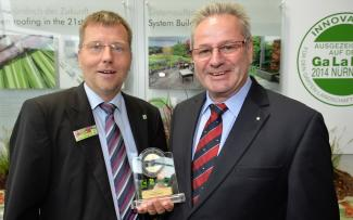 Dieter Schenk with GaLaBau Innovation Medal for 2014